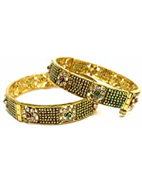 Shingar Jewellery Ksvk Jewels Antique Gold Plated Bangles Set For Women (5988-m-2.6)