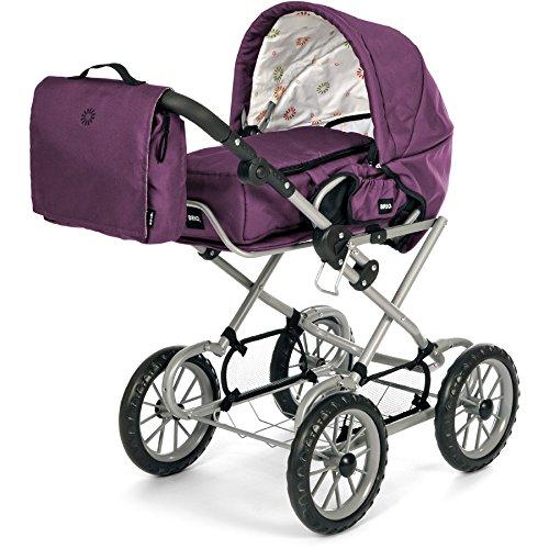 Pinolino Puppenwagen Holz Sarah Buche Natur ~ Brio 24891398 BRIO Puppenwagen Combi, violett (incl Tasche) limitiert