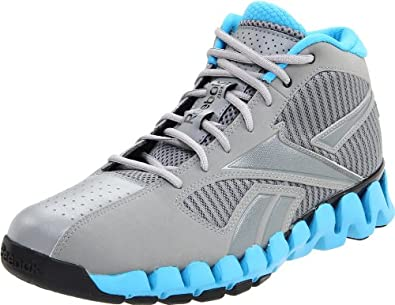 Reebok Men's Zigfury Basketball Shoe,Grey/Blue/Grey/Black,4 M US