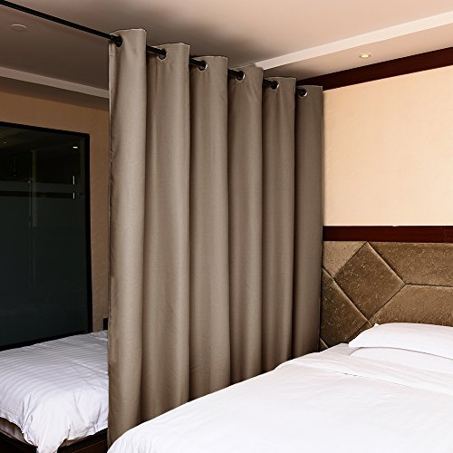 NICETOWN Utter Blackout Room Divider Blackout Curtain Panel for Glass Window/ Sliding Door (1 Panel, W100 x L84 Inch, Cappuccino) (Sliding Door Pattern Curtains compare prices)