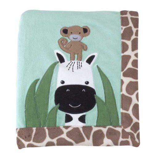 Lambs & Ivy Peek A Boo Jungle Blanket - 1