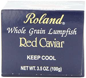 Roland Red Caviar, 3.5-Ounce Jars (Pack of 4)