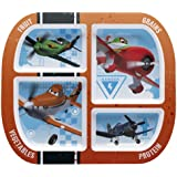 Zak! Designs Healthy by Design 4-Section Plate featuring Disney Planes Graphics, Break-resistant and BPA-free Melamine