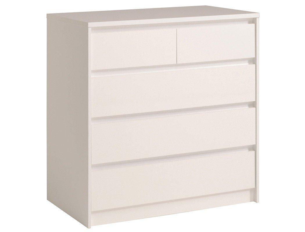 Schubkastenkommode Orell Hochglanz 94x95x50 cm Kommode Sideboard Schrank Schlafzimmer Jugendzimmer, Farbe:weiß