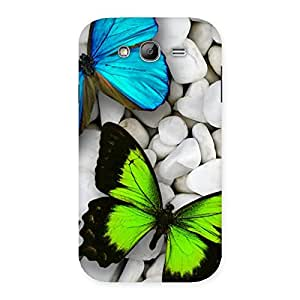 Ajay Enterprises Elite Butterflies Green Blue Back Case Cover for Galaxy Grand Neo