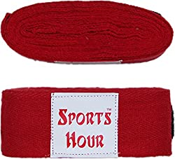 Sports Hour Boxing Hand Bandage,3 Meter (red)