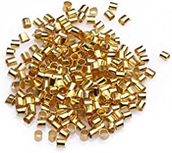Beautiful Bead 2mm Golden Tube Crimp Beads for Jewelry Making About 500pcs