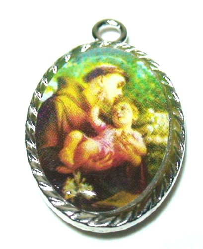 Christian Saint Medal Enamel Pendant Talismans and Amulets Jewelry Collection