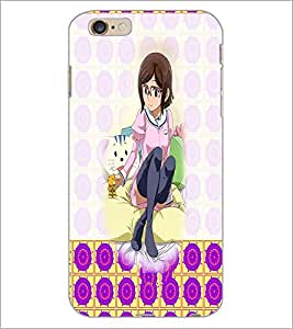 PrintDhaba Cute Girl D-2932 Back Case Cover for APPLE IPHONE 6 PLUS (Multi-Coloured)