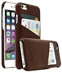 iPhone 6 plus (5.5 inch) Case, Bastex Premium High Quality Genuine Leather Slim Fit Snap On Executive Wallet Card Case for iPhone 6 plus