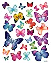Vivid Colorful Butterflies Repositional Wall Decal