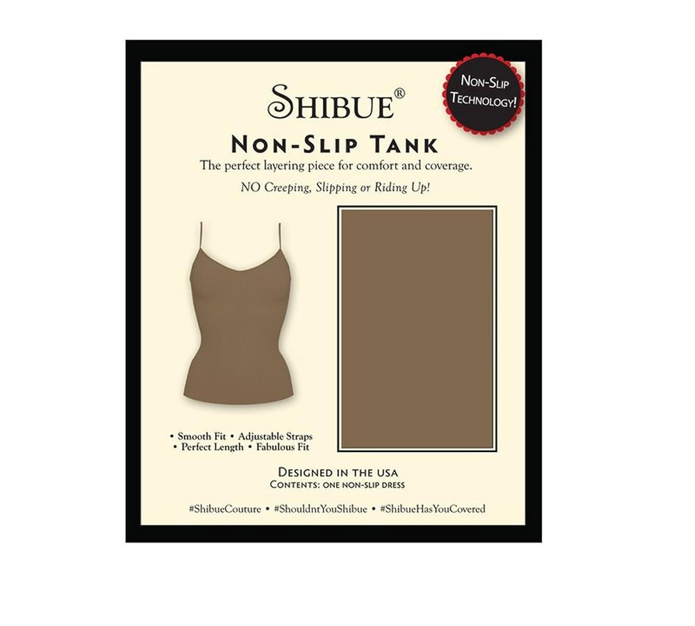 Shibue Couture Non-Slip Cami Dress - Formendes Unterkleid - Farbe Mokka, Größe M