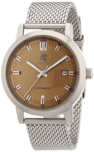 Carucci Watches Men's Automatic Watch Messina CA2195ST-BR with Leather Strap