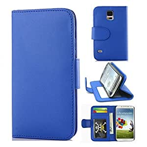 S5 Case,Samsung Galaxy S5 Case,Samsung Galaxy S5 Leather Case,Coddycase Samsung Galaxy S5 [Blue] PU Leather Wallet Card Slots Stand Case Cover for Samsung Galaxy S5 I9600
