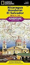 Nicaragua Honduras El Salvador Adventure Map Numbered