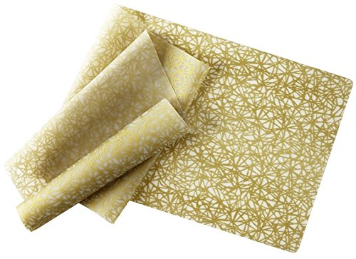 modern-twist Silicone Table Runner, 72 by 14-Inch, Twine, Gold