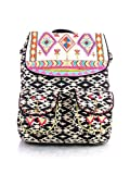 Shaun Design Ikat Embroidered Backpack with Laptop Protection