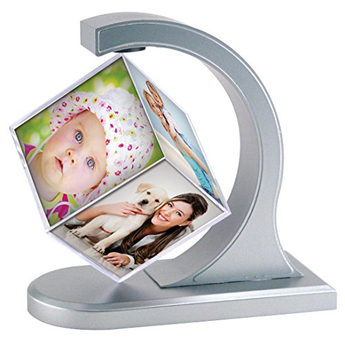 Silver Floating Photo Cube