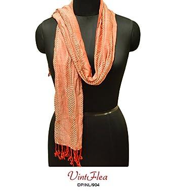 Vintflea Women Stole Red Fashion Scarf Indian Clothing ...