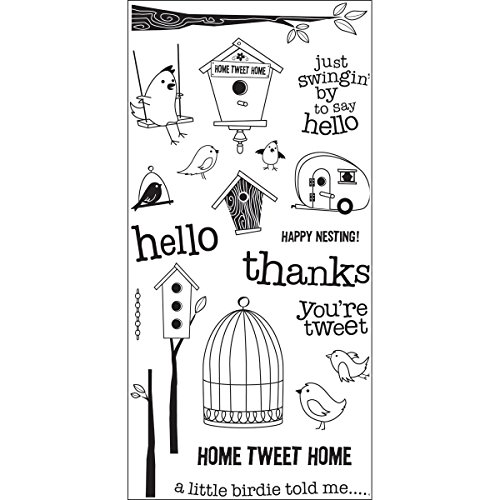 Hampton Art Home Tweet Rubber Stamp