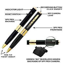Memore spy camera pen Camera Video Recording Pen (works with memory card)