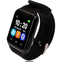 Bingo U8 S MATE BLACK Smart Watch Support Bluetooth With HI-FI MUSIC QUALITY, Remote Click Photo Function