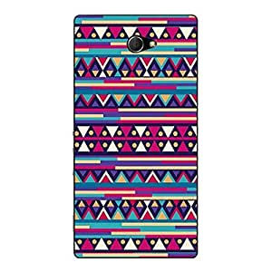Jugaaduu Aztec Girly Tribal Back Cover Case For Sony Xperia M2 Dual