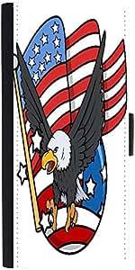 Snoogg Eagle And Us Flag Celebration Patriotic Design Graphic Snap On Hard Ba...