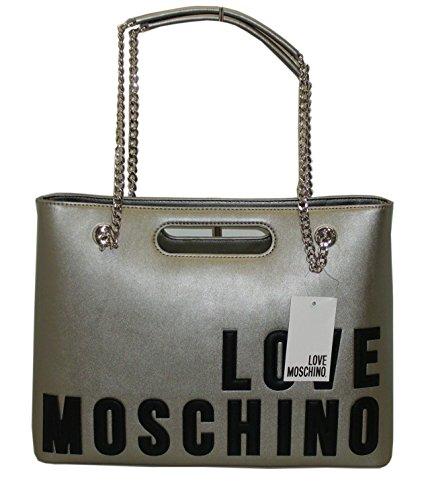 Borsa Love Moschino shopping BAG JC4259 women new lamb pu argento