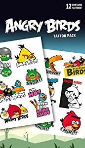 Official Angry Birds Temporary Tattoos