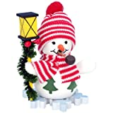 "1-100 - Christian Ulbricht Incense Burner - Snowman with Lantern - 4""""H x 3""""W x 2.5""""D"