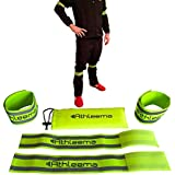 Reflective Arm Or Leg Elastic Bands By Athleema (Set Of 4 Velcro Straps) Fully Adjustable. High Nighttime Visibility...