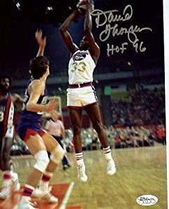 Signed David Thompson Picture - Hof 96 Denver Nuggets 8x10 Jsa Stamp - Autographed... by Sports+Memorabilia