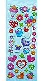 Jazzstick Puffy Dimensional Cute Valentine Flowers & Heart Mini Decorative Sticker (VST07A03)