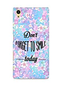 Amez Dont forget to Smile Today Back Cover For Sony Xperia Z5