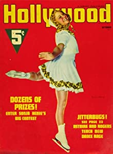 Sonja Henie Movie Poster (11 x 17 Inches - 28cm x 44cm) (1912) 11 x 17 Hollywood Magazine Cover 1940's Style A -
