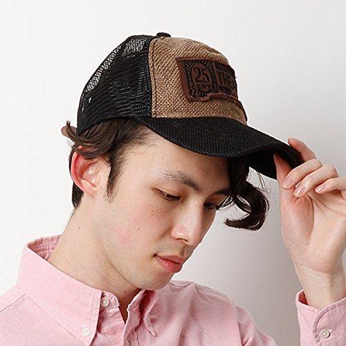 カスターノ(CASTANO) 帽子(ジュートメッシュキャップ)【ブラック/**】
