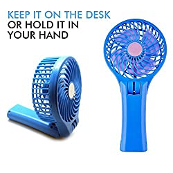 MINI STORM MULTI-UTILITY HAND HELD/TABLE FAN WITH INBUILT 4000MAH POWER BANK & FOLDABLE STAND/HANDLE DESIGN