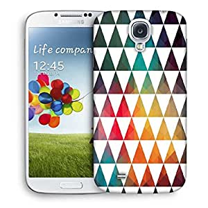 Snoogg White Triangles Designer Protective Phone Back Case Cover For Samsung Galaxy S4
