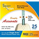 Thyrocare Sugar Scan 25 Strip With 25 Lancet Free