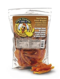 Free Range Chicken Breast Wrap w/ Sweet Potato Dog Treats, 12oz pouch