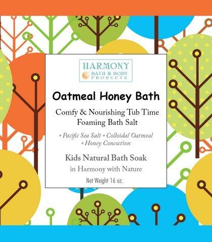 Oatmeal Honey Bath - Best Kids Bath Salt - Comfy & Nourishing Tub Time Foaming Bath Salt Soak - All Natural