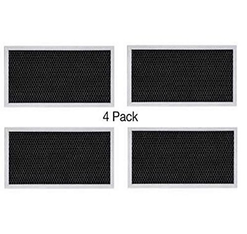(4 PACK) GE WB2X9883 JX81A CF2888 C-6202 RF102 Range Hood Charcoal Microwave Filter (Ge Charcoal Range Hood Filter compare prices)