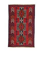 L'Eden del Tappeto Alfombra Beluchistan Rojo / Marrón / Azul 138  x  87 cm