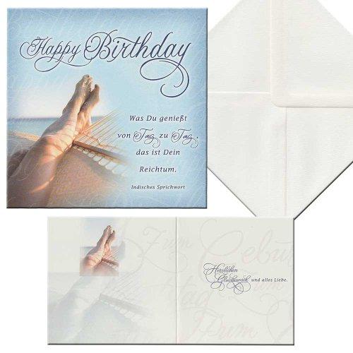 Geburtstagskarte Karte Aufklappkarte Hängematte inkl. Briefumschlag Geburtstag
