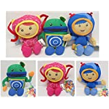 Team Umizoomi Mini Mission Set of 3 Plush Dolls Featuring Geo, Milli and Bob, Ranging From 7 to 8 Inches Tall