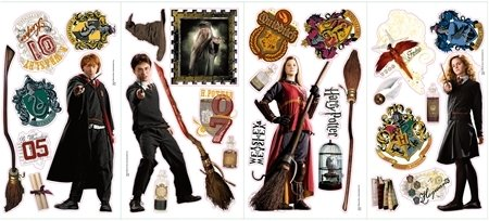 Harry Potter 30 Big Wall Stickers Ron Hermoine New Room Decor Bedroom Decals front-1070458