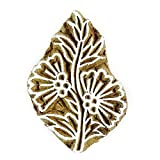 Handcarved Floral Indian Wood Block Stamp Pottery Stamps Wooden Textile Stamps