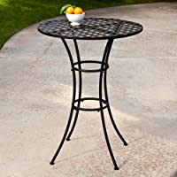 Woodard Capri Wrought Iron Bar Height Bistro Table by Woodard-CM LLC