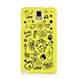 HSD Ultra Slim Fit Cartoon Pattern Plastic Hard Case for Samsung Galaxy Note 3 III N900 / N9000/ N9005 (Yellow)
